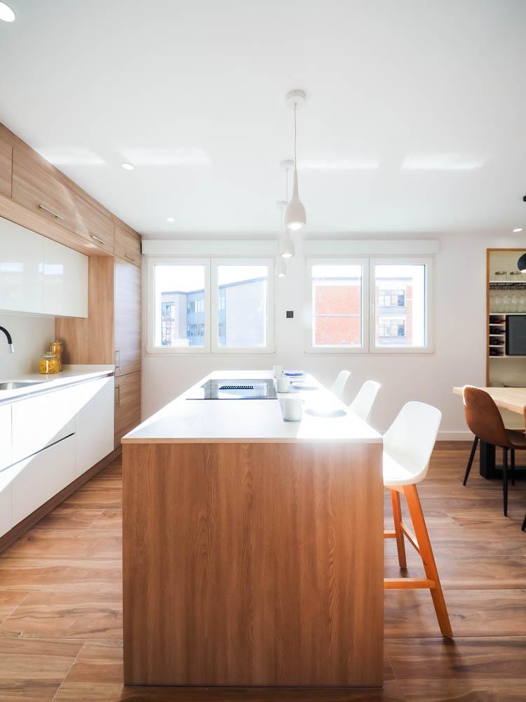 piso venta cocina con isla gijon
