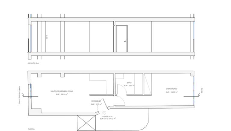Apartamento en alquiler gijon centro plano